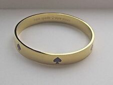 Kate Spade SIX OF SPADES LOGO BANGLE authentic designer gold purple new bracelet