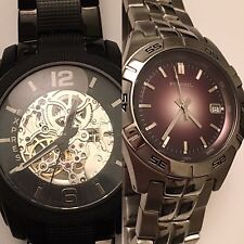 EXPRESS Men's Automatic Watch Brand New PLUS FREE Fossil Watch