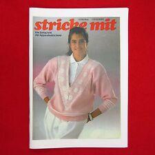 stricke mit 11/89 Nachdruck Zeitschrift Apparatestrickerei - Tips Strickmaschine