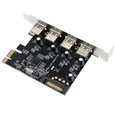 4 Port USB 3.0 PCI-E PCI Express Card w/ 15-pin SATA Power Connector NEC Chipset