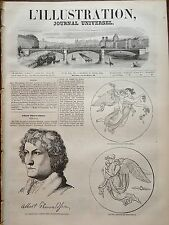L'ILLUSTRATION 1844 N 59 LE GRAND SCULPTEUR DANOIS : ALBERT THORWALDSEN