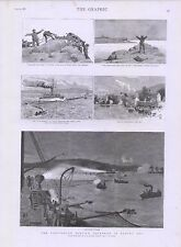 1885 PARTICULAR SERVICE SQUADRON BANTRY BAY POLYPHEMUS CUTTING THROUGH THE BOOM
