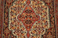 Cir 1930s ANTIQUE HIGH KPSI PERSIAN SENNEH KILIM FLAT WOVEN RUG 2.5x3.5 VEGY DYE