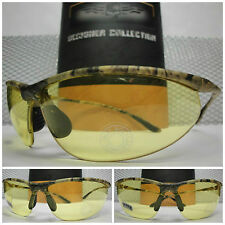 SPORTY NIGHT DRIVING SHOOTING HUNTING MILITARY YELLOW LENS CAMOUFLAGE SUNGLASSES