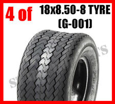 4 OF Golf Cart Buggy Tyre 18x8.5-8 18x8.50-8 6PLY (G-001) Tubeless Ride on mower