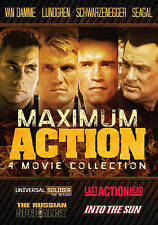 Maximum Action: 4 Movie Collection (DVD, 2015) Like New Disc and Cover Art - NO