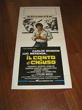 LOCANDINA, IL CONTO E' CHIUSO 1976 CARLOS MONZON, LUC MERENDA MASSI,BOXE PUGILE
