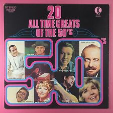20 All Time Greats Of The 50's - K-Tel NE-490 Ex Condition Vinyl LP