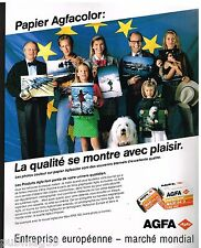 Publicité Advertising 1989 Film Photo Pellicules Agfa Agfacolor