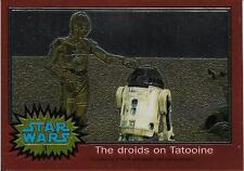 1999 Topps Star Wars Chrome Archives #5 The Droids On Tatooine   C-3PO R2-D2