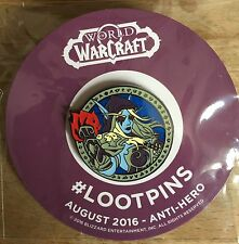August 2016 Anti Hero Magazine & World Of Warcraft Pin *Loot Crate Exclusive*