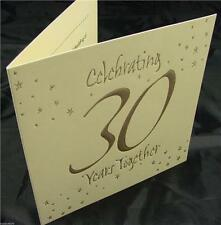 6 Pearl Wedding 30th Anniversary Cream and Gold Invitations And Envelopes