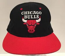 CHICAGO BULLS Snapback Vintage 90s Black Logo 7 NBA Basketball Cap Hat