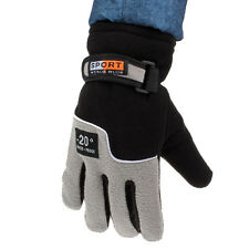 Windproof Men Thermal Winter Motorcycle Ski Snow Snowboard Gloves Black