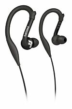 PHILIPS SHQ3200 ActionFit LAVABILE ULTRA LEGGERO Cuffie Sportive, earhooks NERO