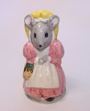 Babbacombe Pottery Pie Bird Funnel Vent  * Mrs. Mouse w/basket * Made in ENGLAND