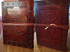 Goddess and Celtic knot leather journal , book of shadows, Wicca Pagan Witch