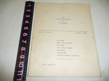 """ROY ROGERS NBC ST LOUIS SCRIPT """"SATURDAY NIGHT ROUND-UP"""" & TICKET OCTOBER 5,1946"""