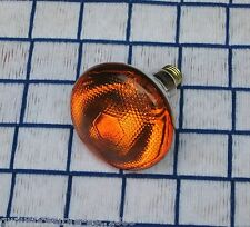 100 WATT AMBER orange 130v outdoor flood 100w LIGHT BULB PAR38 sub BR38 100BR38