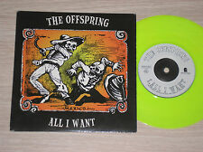 "THE OFFSPRING - ALL I WANT / WAY DOWN THE LINE - 45 GIRI 7"" LIME GREEN VINYL"