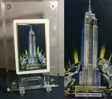 Art Deco 1st Ed. 1930's Linen Playing Card NY Empire State Building Rare Single