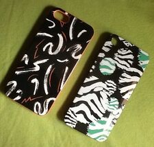 2 NEW iPhone 5/5S case CASES abstract Print black white pink green