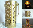 Flower of Life Metal Tealight Candle Holder - 2 Designs - Gold Coloured