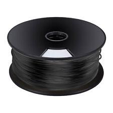 3 mm Pla filamento Para Impresoras 3d Negro elemento Fibra Hilo Carrete (por 5 Metros)