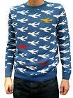 Airplane Aeroplane Jumper 80s 70s kitsch indie vtg retro xs s m l xl flying