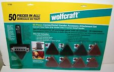 Wolfcraft 50 Pc Corner/Detail Palm Sander Accessory Attachment Set NEW SEALED