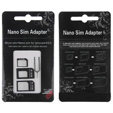 Nano SIM Card to Micro Standard Adapter Adaptor Converter Set For iPhone 5S 4S 4