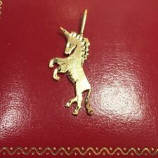 Vintage 14k Yellow Gold Unicorn Horse Equestrian Necklace Charm 585 Pendant