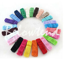 50 pcs   Crochet Headband children high-elastic baby girl woven headband