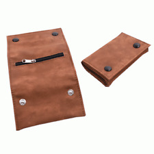 SOFT BROWN LEATHER TOBACCO POUCH - Compact & Stylish - Same Day Despatch