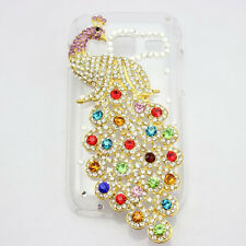 1x 3D bling peacock diamond crystal hard back case cover FOR Samsung Galaxy new