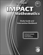 Elc Impact Math: IMPACT Mathematics, Course 3, Study Guide and Intervention...