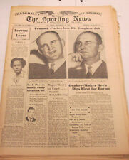 The Sporting News Newspaper  Ted Williams  December 16, 1943   101014lm-eB2