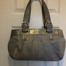 Coach Light Gray Soho Pleated Leather shoulder bag Handbag F13732