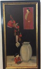 OLD ORIGINAL OIL PAINTING SIGNED SHELPARK/ASIAN , ORIENTAL