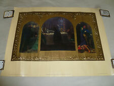 VINTAGE 1973 THE EVE OF ST AGNES POSTER ARTHUR HUGHES TATE GALLERY ART PRINT