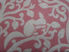 Sanderson Curtain/Upholstery Fabric 'Squirrel & Dove' 3.25 METRES Cherry - Wool