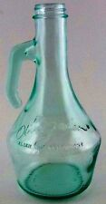 Green Tinted Glass Olive Garden Restaurant Salad Dressing Oil Bottle Jar