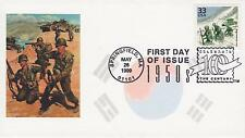 GREAT SOUTHERN COVER CO HAND-MADE FDC FIRST DAY COVER 1999 THE KOREAN WAR MILITA
