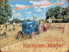 Fordson Major Tracteur Classique Vintage Pays Ferme Agriculture Large Métal/