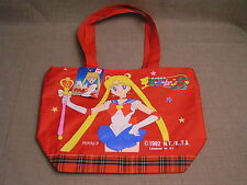 SAILOR MOON 1992 Vintage Japanese Animation Cartoon Zippered Tote Bag - Mint NWT
