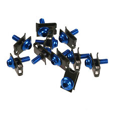 Universal Stainless Steel Motorcycle M5M6 Fairing Bolts Kit Fastener Clips Screw