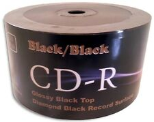 50-Pak =DOUBLE-SIDED BLACK/BLACK= Diamond Black Record Surface 52X CD-R's