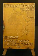 Médaille Colonies, l'Afrique française Auguste Terrier sc De Hérain 1931 medal