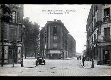 IVRY-sur-SEINE (94) AUTOMOBILE aux COMMERCES , Rue MOISE & Rue BOURGEOIS animées
