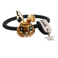 Brown Rabbit Charm Women Girl Elastic Silver Hair Band Wrap Accessories HA276